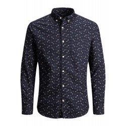 Camisa Micro Estampado Floral
